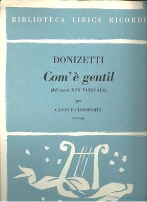"""Picture of Com' e gentil, from """"Don Pasquale"""", Donizetti, tenor vocal solo"""
