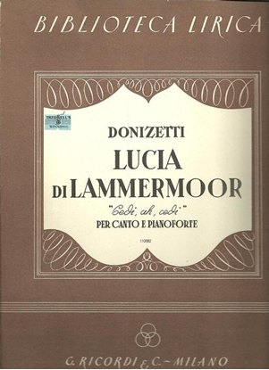 Picture of Cedi ah Cedi, from opera Lucia di Lammermoor, Gaetano Donizetti, baritone vocal solo