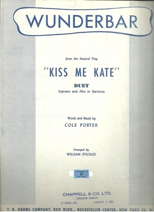 """Picture of Wunderbar, from """"Kiss Me Kate"""", Cole Porter, vocal duet"""