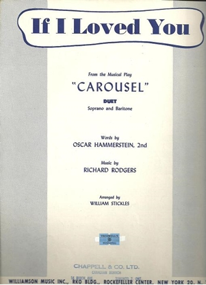"""Picture of If I Loved You, from """"Carousel"""", Rodgers & Hammerstein, vocal duet for soprano & baritone, sheet music"""