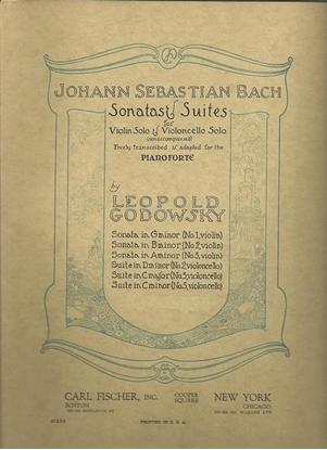 Picture of J. S. Bach Violin Sonata #3 in a minor, transcribed for piano solo by Leopold Godowsky