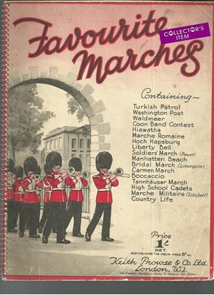 Picture of Favourite Marches, arr. Ernest Haywood, piano solo songbook