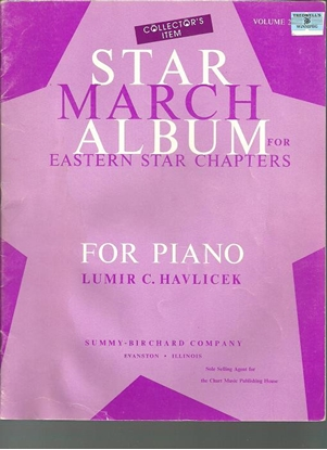 Picture of Star March Album for Eastern Star Chapters Vol.2, Lumir C. Havlicek, piano solo songbook