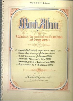 Picture of March Album, ed. E. Pauer, piano solo songbook