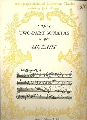 Picture of Two-Part Sonatas K46d & K46e, W. A. Mozart, piano solo