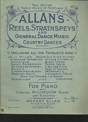 Picture of Allan's Reels Strathspays and General Dance Music, piano, accordion , fiddle