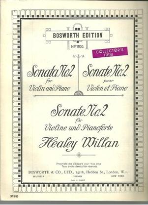 Picture of Violin Sonata #2, Healey Willan