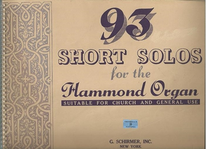 Picture of 93 Short Solos for the Hammond Ogan