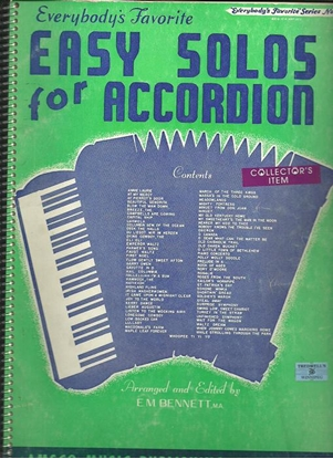 Picture of Everybody's Favorite Series No. 64, Easy Solos for Accordion, EFS64, songbook