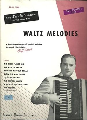 Picture of Waltz Melodies Book 4, arr. Cliff Scholl, accordion songbook