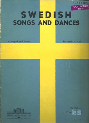 Picture of Swedish Songs and Dances, arr. Jacob M. Velt, accordion songbook