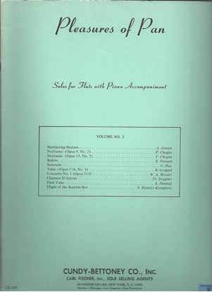 Picture of Pleasures of Pan Vol. 3, solo flute songbook