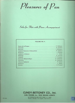 Picture of Pleasures of Pan Vol. 4, solo flute songbook