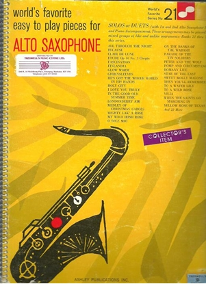 Picture of World's Favorite Series No. 21, Easy to play pieces for Alto Saxophone Solos or Duets, WFS21