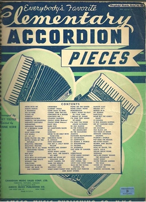 Picture of Everybody's Favorite Series No. 46, Elementary Accordion Pieces, EFS46, songbook
