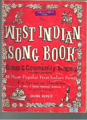 Picture of West Indian Song Book, arr. Irving Burgie, aka Lord Burgess, songbook