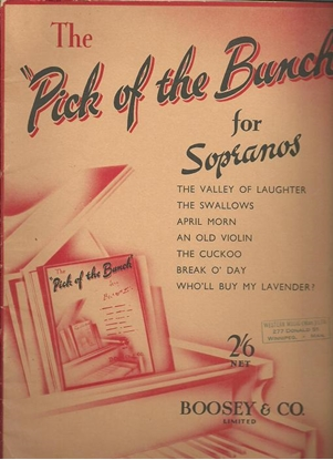Picture of The Pick of the Bunch for Sopranos, songbook