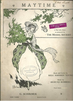Picture of Maytime, Rida Johnson Young & Sigmund Romberg, complete vocal score