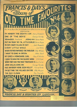 Picture of Francis & Day's Album of Old Time Favourites No.4, songbook