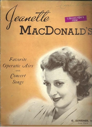 Picture of Jeanette MacDonald, Favorite Operatic Arias & Concert Songs, soprano songbook
