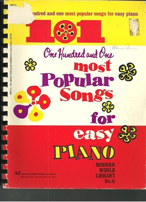 Picture of 101 Most Popular Songs for Easy Piano, Modern World Library No.11