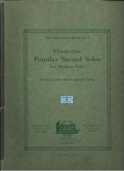 Picture of 31 Popular Sacred Solos for Medium Voice, Lorenz Publishing