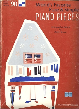 Picture of World's Favorite Series No. 90, Pure & Simple Piano Pieces, WFS90, arr. Betty Bryan, piano solo songbook