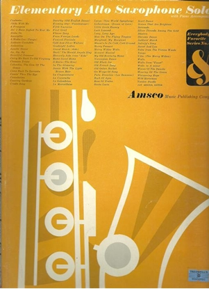 Picture of Everybody's Favorite Series No. 35, Elementary Alto Saxophone Solos, EFS35