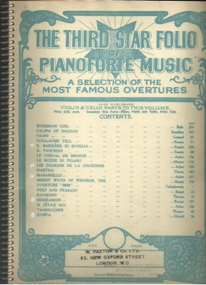 Picture of Overtures, The Third Star Folio of Piano Music, piano solo songbook