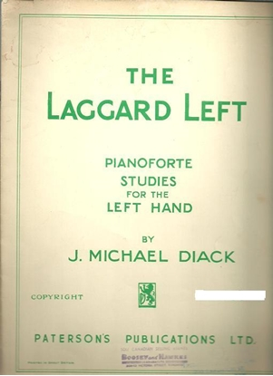 Picture of The Laggard Left, Piano Studies for the Left Hand, J. Michael Diack, piano solo songbook