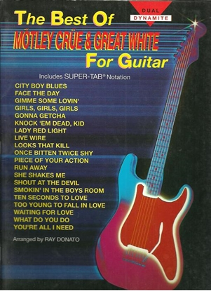 Picture of The Best of Motley Crue & Great White, TAB guitar songbook