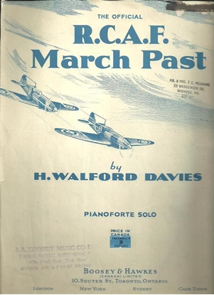 Picture of R.C.A.F. March Past (RCAF March Past), H. Walford Davies, piano solo