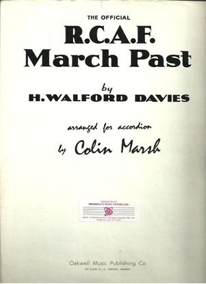 Picture of R. C. A. F. March Past, RCAF March Past, H. Walford Davies, arr. Colin Marsh, accordion solo