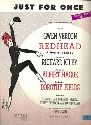 """Picture of Just for Once, from """"Redhead"""", Dorothy Fields & Albert Hague, sheet music"""