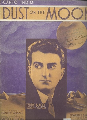 Picture of Dust on the Moon, Canto Indio, Stanley Adams & Ernesto Lecuona, recorded by Teddy Black