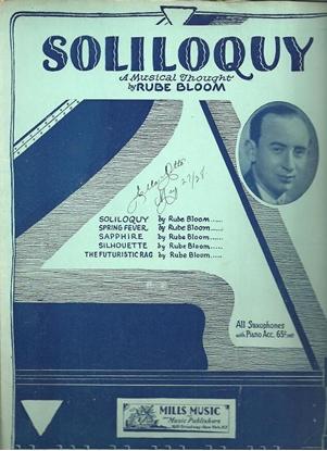 Picture of Soliloquy, Rube Bloom, piano solo