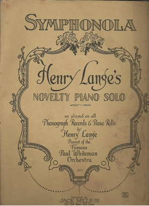 Picture of Symphonola, Henry Lange, piano solo
