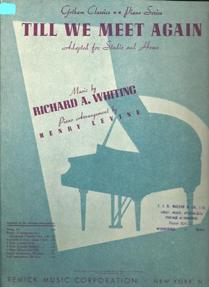 Picture of Till We Meet Again, Richard A. Whiting, arr. Henry Levine, piano solo
