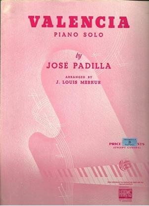 Picture of Valencia, Jose Padilla, arr. J. Louis Merkur for piano solo
