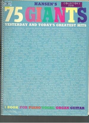 Picture of Hansen's 75 Giants, easy piano songbook
