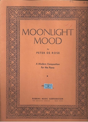 Picture of Moonlight Mood, Peter De Rose, piano solo