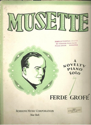 Picture of Musette, Ferde Grofe, piano solo