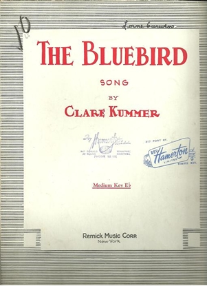 Picture of The Bluebird, Clare Kummer, medium voice solo