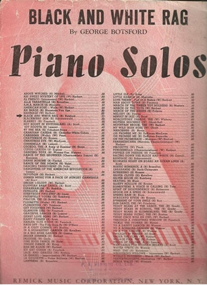 Picture of Black and White Rag, George Botsford, piano solo