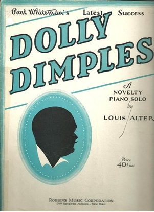 Picture of Dolly Dimples, Louis Alter, piano solo