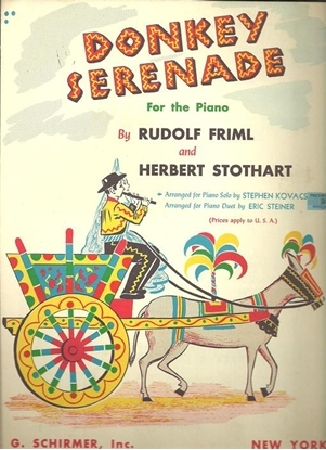 Picture of Donkey Serenade, Rudolph Friml, arr. for piano solo by Stephen Kovacs