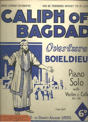 Picture of Caliph of Bagdad Overture, Boieldieu, piano solo (optional piano trio)