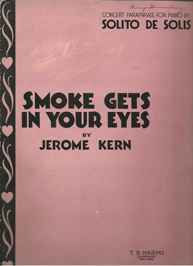 Picture of Smoke Gets in Your Eyes, Jerome Kern, transc. for piano solo Solito de Solis