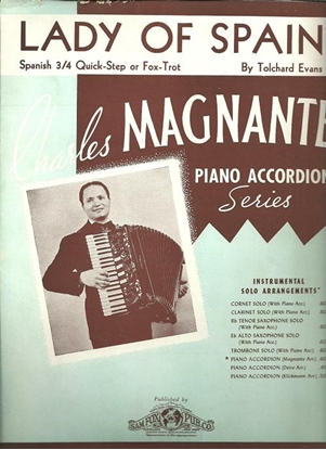 Picture of Lady of Spain, Tolchard Evans, arr. Charles Magnante for accordion solo