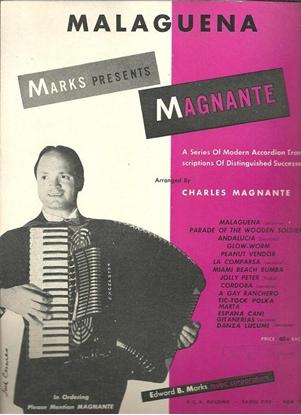 Picture of Malaguena, Ernesto Lecuona, arr. Charles Magnante for accordion solo